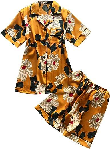 Silk Satin Pajamas Pyjamas Kids Children Lounge Wear Sleepwear Set Nightgown Hot