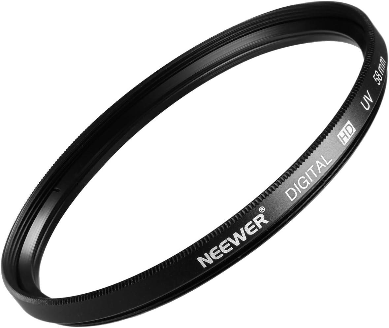 Neewer 58MM UV Lens Filter for CANON Rebel (T5i T4i T3i T3 T2i T1i XT XTi XSi SL1), CANON EOS (700D 650D 600D 550D 500D 450D 400D 350D 300D 1100D)