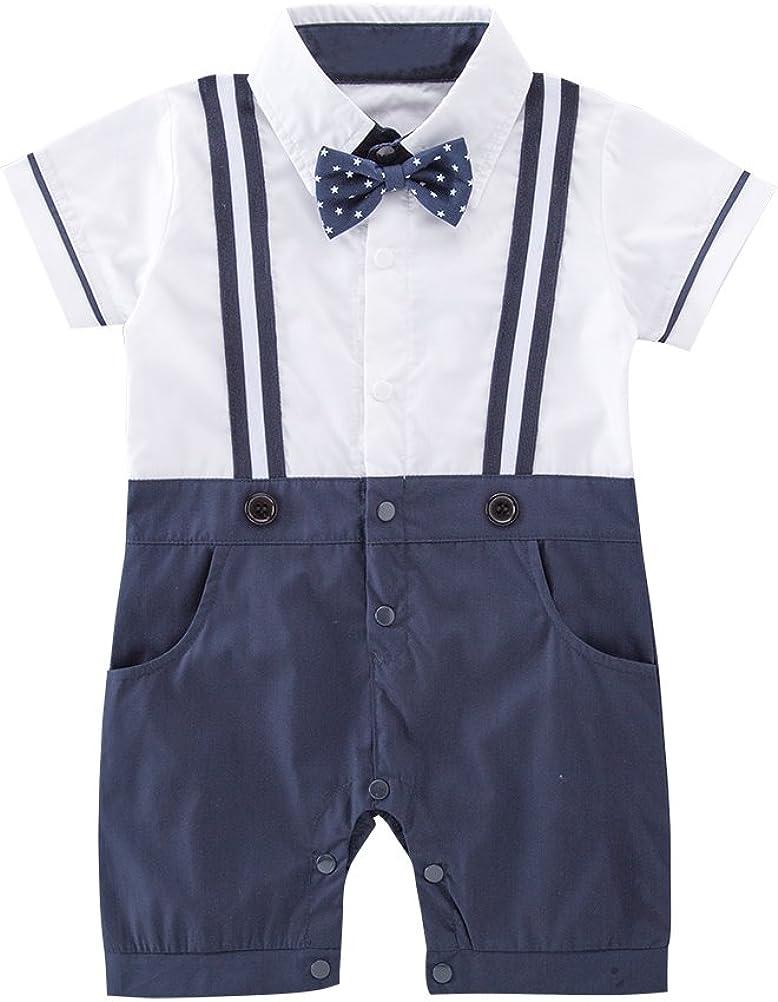 Nyan Cat Mays Baby Toddler Boys Short Sleeves Faux Suspenders Rompers Onesie