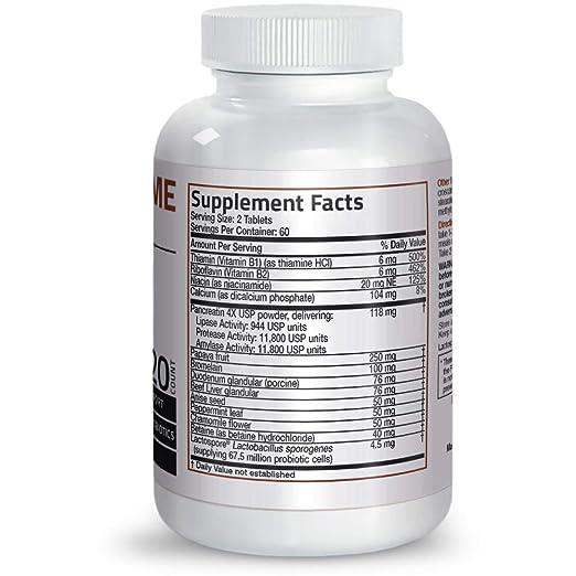 Amazon.com: Bronson Daily Enzyme Complex ™, 120 Cuadros ...