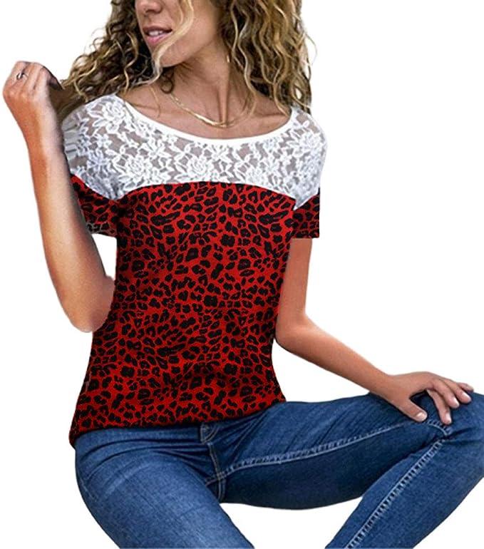 Camiseta Mujer Splice Encaje Blusa De Mode De Marca Moda Chica De ...