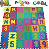 Puzzlematte 86 tlg. - Kinderspielteppich Spielmatt…