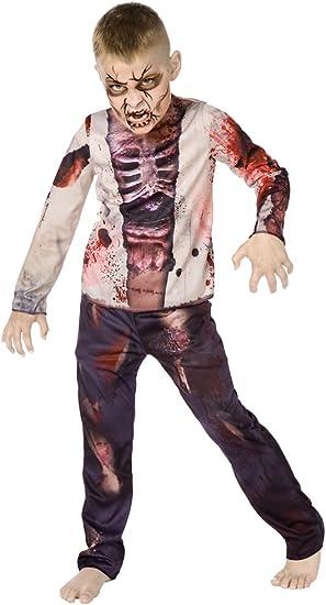 Zombie Muchacho 3D - Traje de Halloween - Niños Disfraz - Medium ...