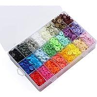 ilauke Botón Presión, 24 Colores de 408 Piezas