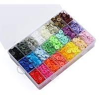 ilauke 400pcs 24 couleurs Pressions Plastiques T5 12mm, avec Rangement de Boîte