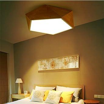 Hxdzl Modernen Deckenlampe Massivem Holz Deckenleuchte Fur