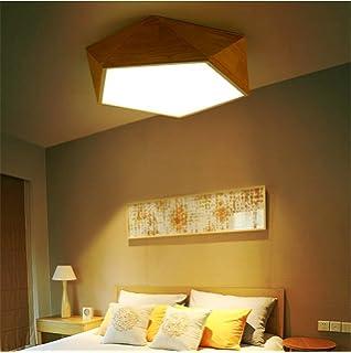 JINER-24W LED kreative Persönlichkeit von massivem Holz Decke ...