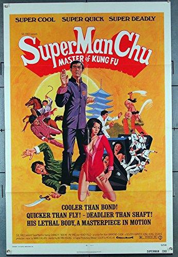 Super Man Chu: Master Of Kung Fu (1973) Capital Productions Original One-Sheet Movie Poster 27x41 MARTIAL ARTS...
