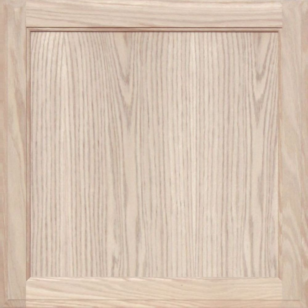 Unfinished Oak Square Flat Panel Cabinet Door by Kendor, 22H x 22W Kendor Wood Inc.