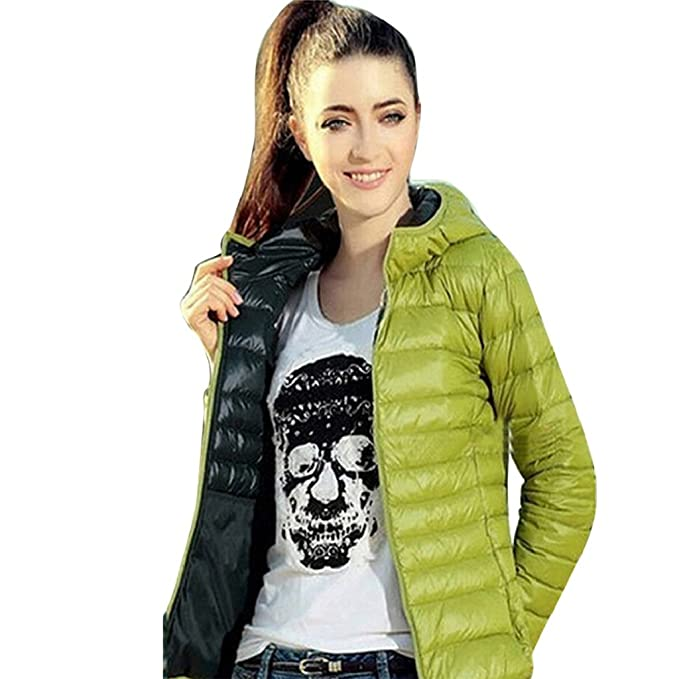 GillBerry Abrigo de Mujer Invierno cálido Color del Caramelo Delgado Slim Down Jacket (XXXL,