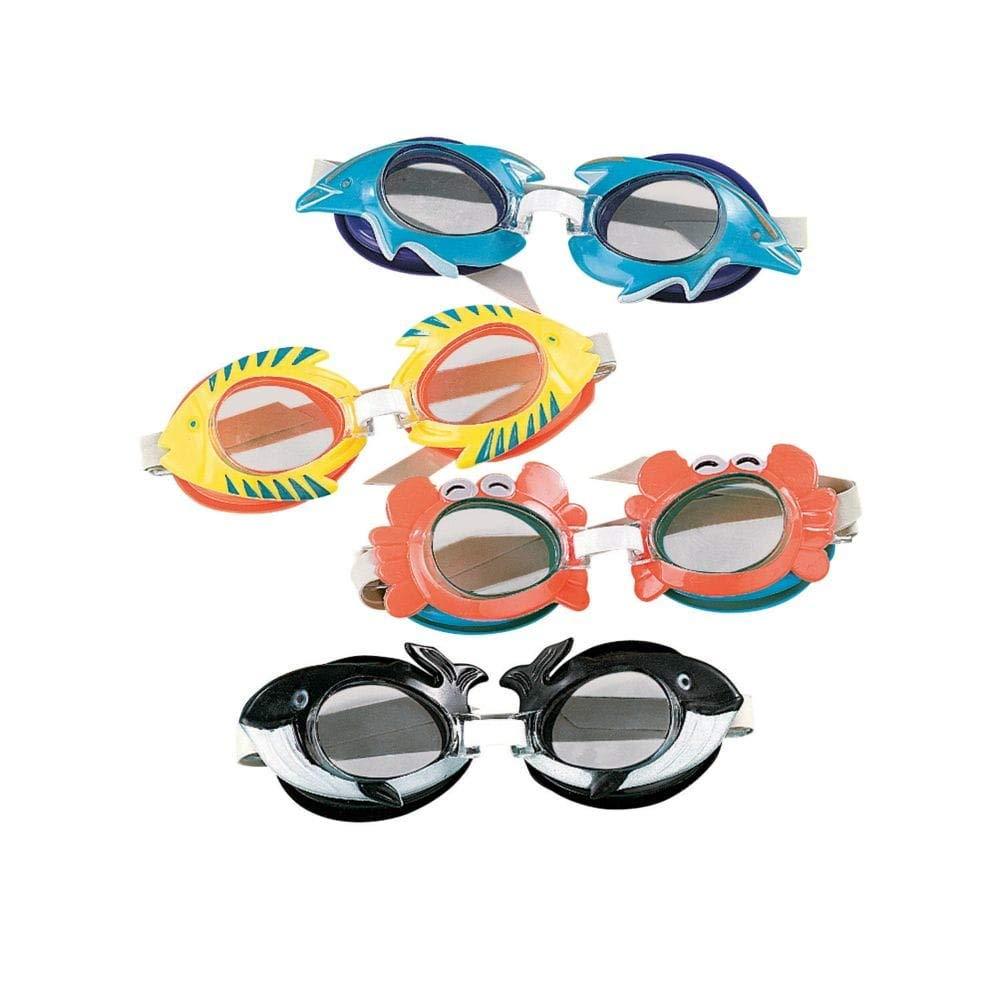 Tropical Swim Goggles, 12 pack