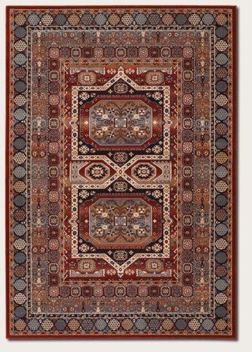 Timeless Treasures Maharaja Area Rugs, 5-Feet 3-Inch by 7-Feet 6-Inch, Burgundy ()
