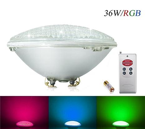 COOLWEST 36W RGB Iluminación de piscinas LED, para el reemplazo de bombilla halógena 250W PAR56