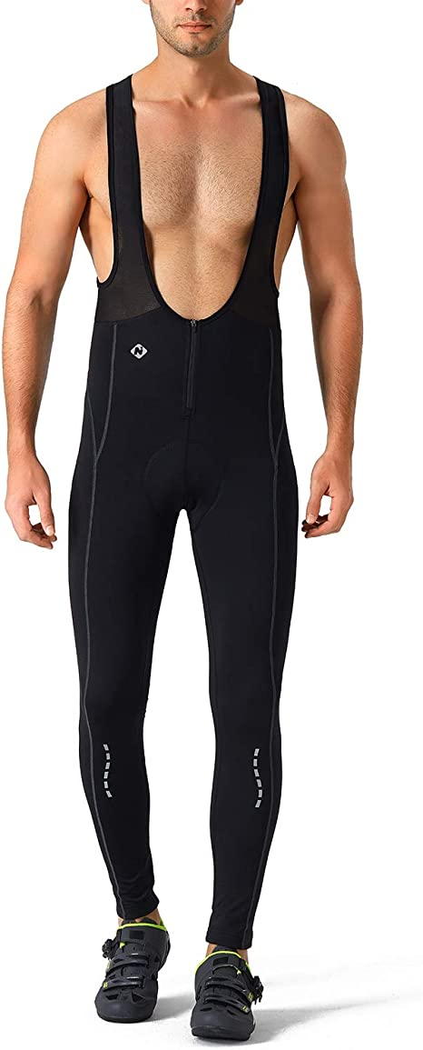 Mens Cycling Bib Tights Pants 3D Padded Bike Wear Bicycle Compression Trousers