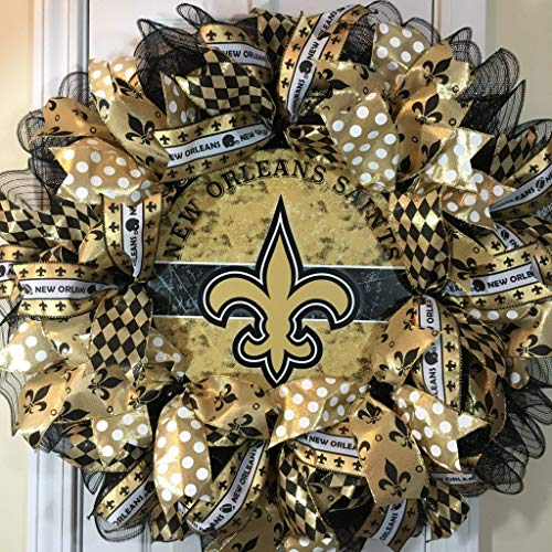 Wreath Nfl (Sports Wreath Shop, New Orleans Saints, NFL Sports Wreath, 28