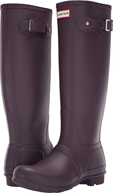 quality design c69f3 7f323 Hunter Women s Original Tall Rain Boots Black Grape 5 ...
