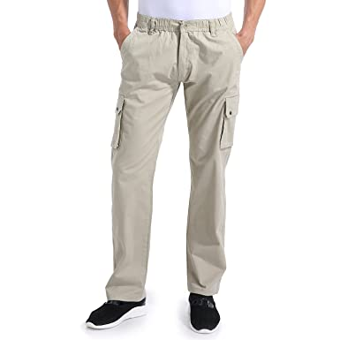23973f1c735d3 Eaglide Men's Outdoor Elastic Cargo Pant, Mens Pockets Cotton Tactical Pants