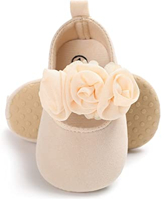 Infant LFHT Baby Girls Soft Sole Fower Mary Jane Princess Shoes Prewalker Sneakers