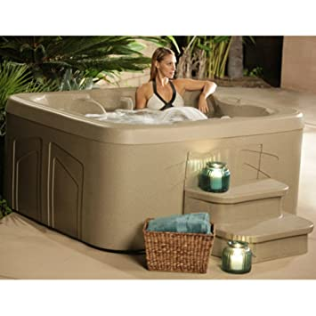 4 person hot tub with 20 stainless steel jet plug u0026 play spa waterfall led