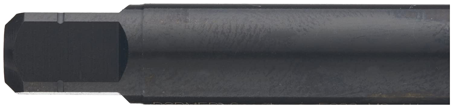Modified Bottoming Chamfer M4-0.50 Thread Size Round Shank with Square End Black Oxide Finish Dormer E013 Powdered Metal Spiral Flute Threading Tap