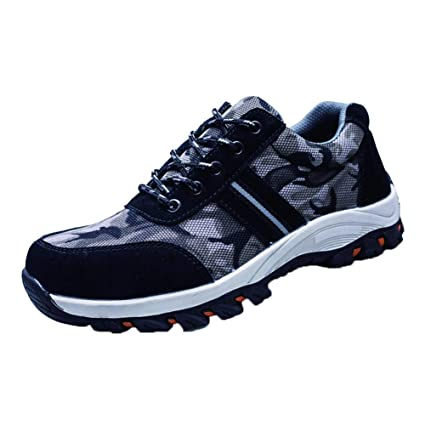 Men's Boots Mens Indestructible Safety Shoes For Men Footwear Work Shoes Steel Toe Sneakers Lightweight Breathable Outdoor Hiking Shoe Man Men's Shoes