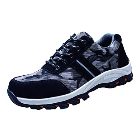 b217e2e4d Amazon.com: Eachbid Unisex Steel Toe Shoes Indestructible Ultra Protection  Puncture Proof Work Labor Safety with Lace-up Camouflage Welding Insulation  Men ...