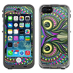 Skin Decal for LifeProof Apple iPhone 5C Case - Aztec Owl Head
