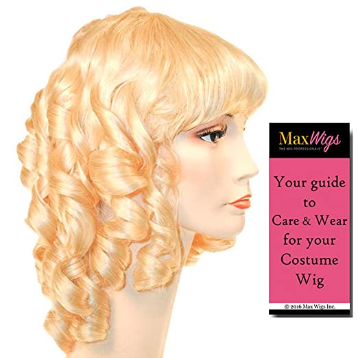 Vintage Hair Accessories: Combs, Headbands, Flowers, Scarf, Wigs Little Women Color BLACK - Lacey Wigs Style 19th Century Medieval Maiden Royal Ball Long CurlsBundle with MaxWigs Costume Wig Care Guide $40.94 AT vintagedancer.com