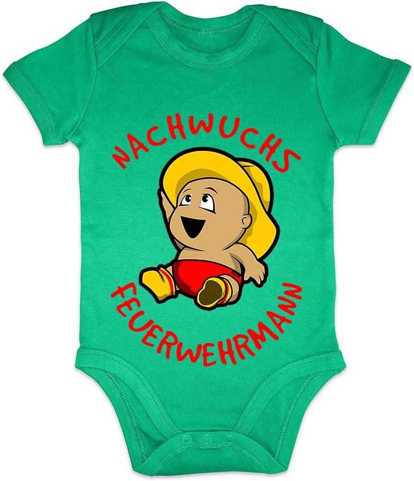 Hariz - Body de manga corta para bebé, diseño de bombero Tarjeta de regalo para el Día de la Madre, diseño de rana, color verde, 6-12 meses