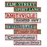 Beistle 4-Pack Halloween Street Sign Cutouts, 4-Inch by 24-Inch