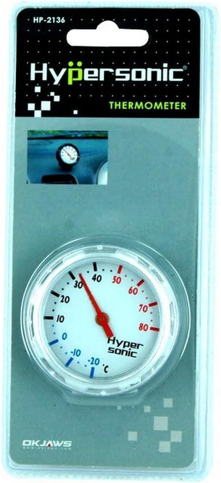 barca Hypersonic/® HP-2136 Termometro Racing Design argento//metallo per auto camion camper o appartamento//ufficio