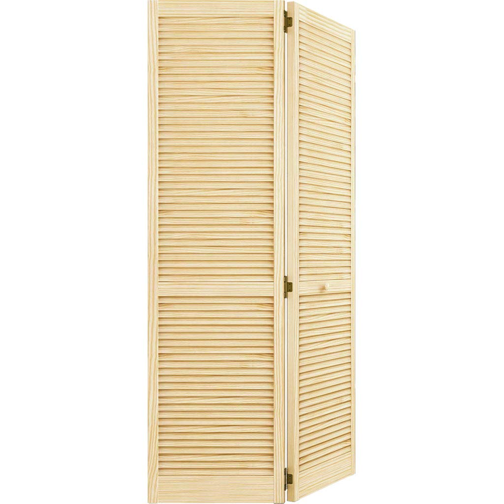 Closet Door, Bi-fold, Kimberly Bay Traditional Louver-Louver Clear (80x24)