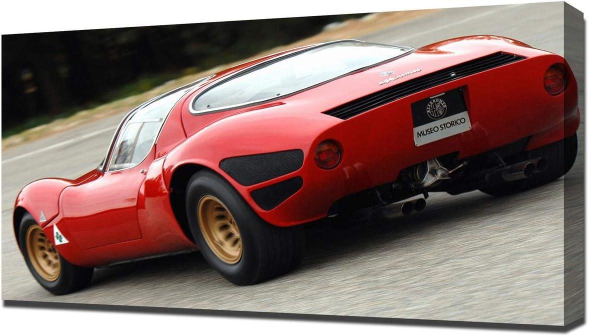 Lilarama USA 1967 Alfa Romeo Tipo 33 Stradale Prototipo V5 - Canvas Art Print - Wall Art - Canvas Wrap