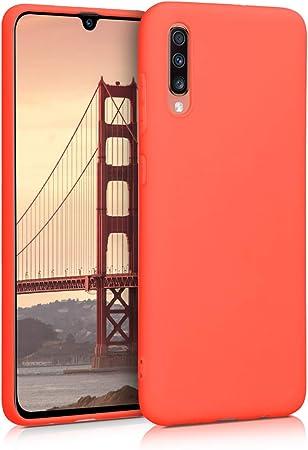 Image ofkwmobile Funda Compatible con Samsung Galaxy A70 - Carcasa de TPU Silicona - Protector Trasero en Coral Vivo