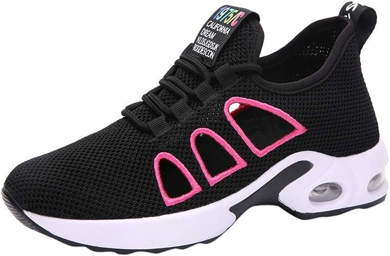 Madmoon Neu Damen Sommer Freizeitschuhe Sneaker Running Erh/öhen Turnschuhe Laufschuhe Fitnessschuhe Freizeit Atmungsaktive Mesh Schuhe Running Laufschuhe Sportschuhe rutschfeste Sneaker