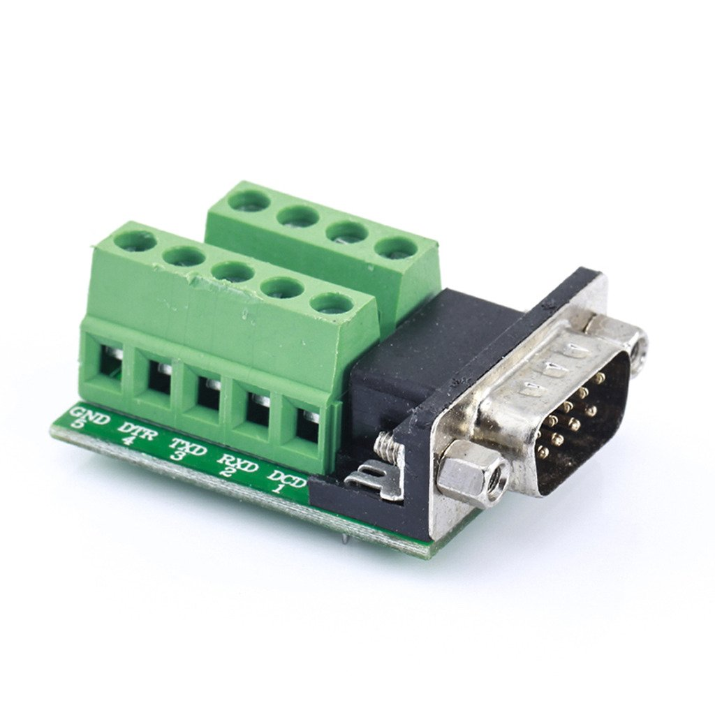D-SUB DB9 To 9Pin Terminals Adapter RS232 Serial Breakout Board Connector GHH