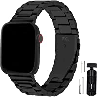 Fullmosa Compatibel met Apple Watch Band 42mm 44mm, roestvrijstalen horlogeband voor iWatch/Apple Watch Series SE/6/5/4…