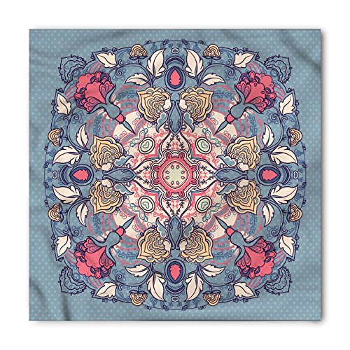 Lunarable Mandala Bandana, Vintage Floral Branches, Unisex Head and Neck Tie