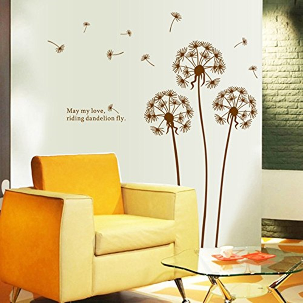 Amazon.com: Home Decor Wall Stickers Dandelion Removable Room Decor ...