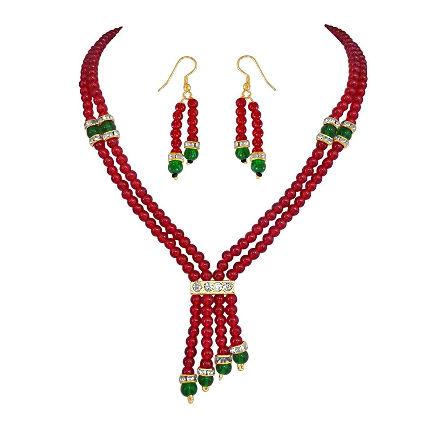 vegas image red novelty necklace jewelry rio for beads making s is costume loading las itm vintage jewellery