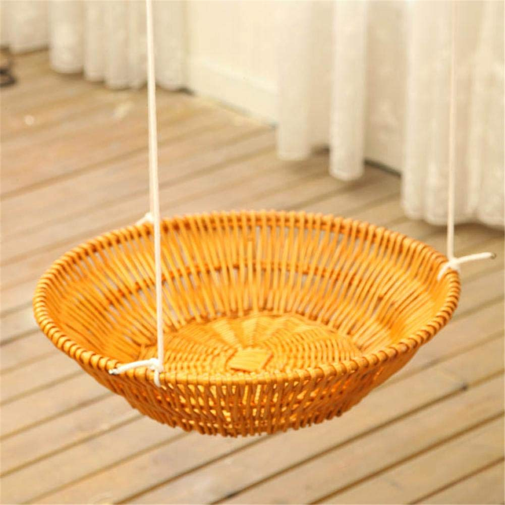 Hammock - Sleeping Nest for Cats - Wicker Swinging Bed with Hemp Rope ,Safe Comfortable Oval Cat Hammock Hanging Bed Breathable Cages by Yunt-11 (Image #4)