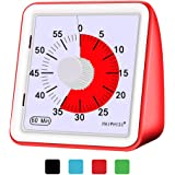 60 Minute Visual Timer,Classroom Countdown Clock,Silent Timer for Kids and Adults,Time Management Tool for homework…