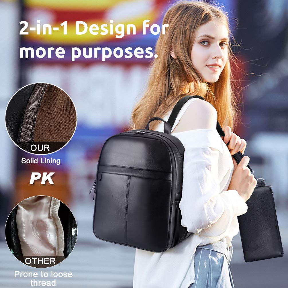 VBIGER Women Backpack Purse School Bag Shoulder Bag Girls Ladies Waterproof Fashion Handbag Black