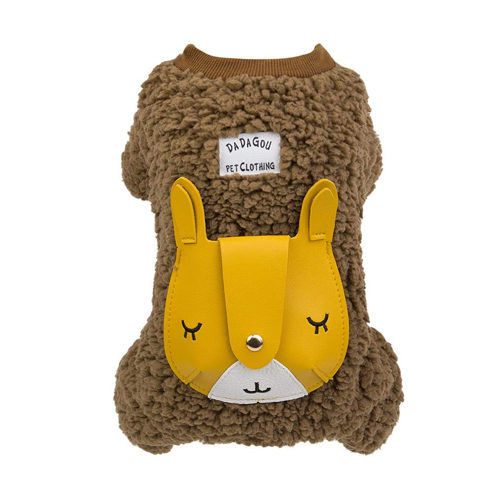 TozuoyouZ Thermal Pet Clothes for Dog Pajamas Coat Jumpsuit Soft Thickening Warm Pup Dogs Winter Clothing
