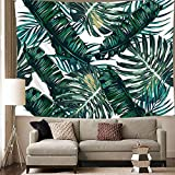 diy teen room decor Wall Tapestry for Bedroom, Tapestry Wall Hanging Banana Tree Leaves Wall Tapestries Art Home Decor for Teen Girls Living Room Dorm Beach Throw Cloth 59x78.7inches (Palm Tree Leaves, 59x78.7)