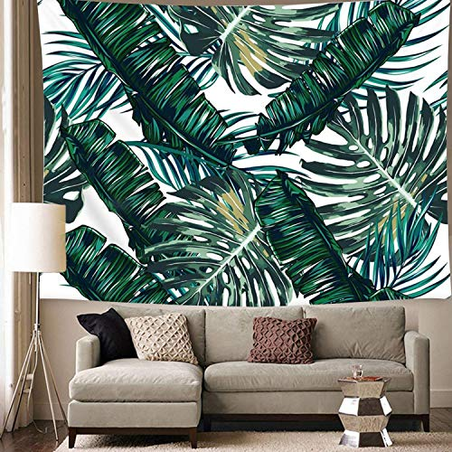Wall Tapestry for Bedroom, Tapestry Wall Hanging Banana Tree Leaves Wall Tapestries Art Home Decor for Teen Girls Living Room Dorm Beach Throw Cloth 59x78.7inches (Palm Tree Leaves, 59x78.7)