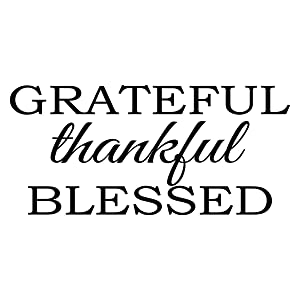 Empresal Thanksgiving Stickers Grateful Thankful Blessed Vinyl Sayings Wall Decal Lettering Kitchen Decor Dining Room Quotes
