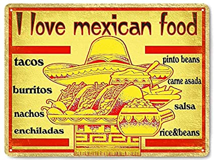 Amazon Com Mexican Food Metal Sign Tacos Burritos Funny Great