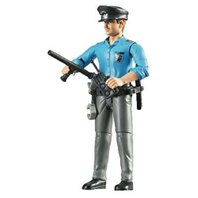 Bruder Policeman Light Skin Toy Figure with Accessories: Toys & Games