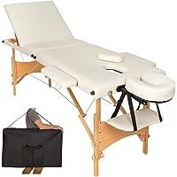 TecTake Table de massage 3 zones pliante cosmetique lit de massage portable + housse de transport - diverses couleurs au choix -